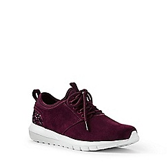 Lands' End - Red lightweight suede trainers