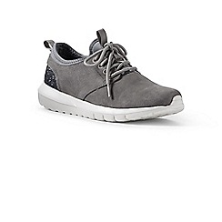 Lands' End - Grey lightweight suede trainers