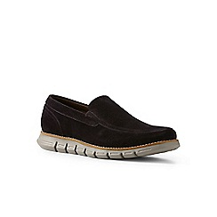Lands' End - Brown regular casual comfort suede loafers