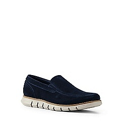 Lands' End - Blue regular casual comfort suede loafers