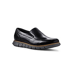 Lands' End - Black regular casual comfort leather loafers