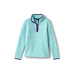 Lands' End - Girls' blue sweater fleece jumper