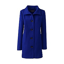 Lands' End - Blue stand collar coat