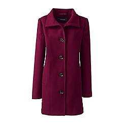 Lands' End - Red stand collar coat