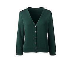 Lands' End - Green supima 3-quarter sleeve dress cardigan