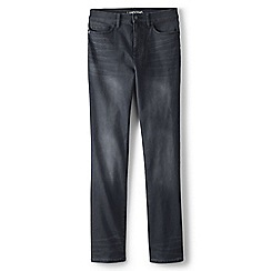 Lands' End - Grey  high rise straight leg jeans