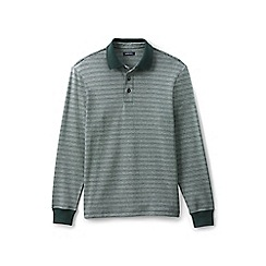 Lands' End - Green feeder stripe supima rugby shirt