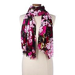 Lands' End - Pink  floral scarf