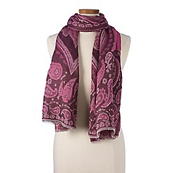 Lands' End - Red jacquard paisley scarf