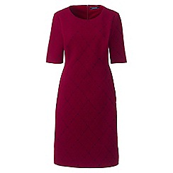 Lands' End - Multi jacquard ponte jersey shift dress