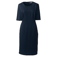 Lands' End - Blue elbow sleeves ponte sheath dress