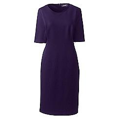 Lands' End - Purple elbow sleeves ponte sheath dress