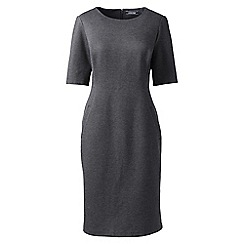 Lands' End - Grey elbow sleeves ponte sheath dress
