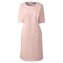 Lands' End - Pink elbow sleeves ponte sheath dress