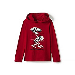 Lands' End - Boys' red hooded graphic tee