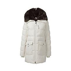 Lands' End - Cream primaloft parka-style coat