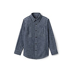 Lands' End - Boys' blue chambray shirt