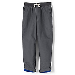 Lands' End - Boys' grey toddler iron knee jersey-lined pull-on trousers