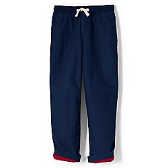 Lands' End - Boys' blue toddler iron knee jersey-lined pull-on trousers
