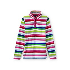 Lands' End - Toddler girls' multicoloured thermacheck-100 printed fleece half-zip pullover
