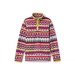 Lands' End - Girls' multicoloured thermacheck-100 printed fleece half-zip pullover
