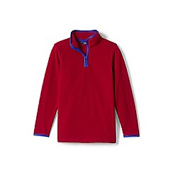 Lands' End - Boys' red half-zip fleece top