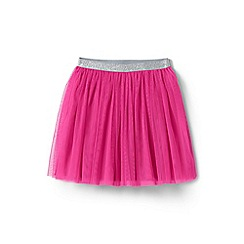 Lands' End - Girls' pink soft tulle skirt