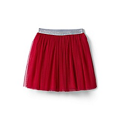 Lands' End - Girls' red soft tulle skirt