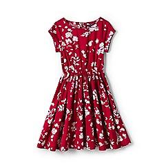 Lands' End - Girls' red woven twirl dress