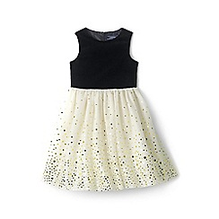 Lands' End - Girls' black tulle party dress