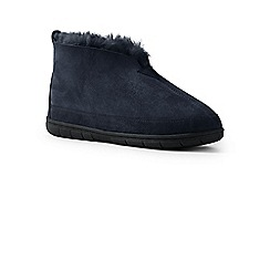 Lands' End - Blue ankle-deep in sheepskin warmth slippers