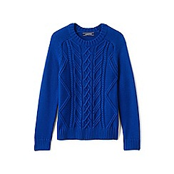 Lands' End - Boys' blue drifter cable jumper
