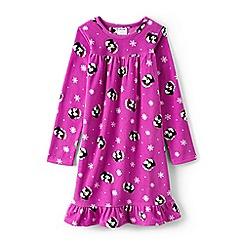 Lands' End - Girls' pink ruffle hem printed night dress