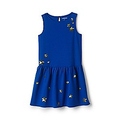 Lands' End - Girls' blue drop waist ponte jersey dress