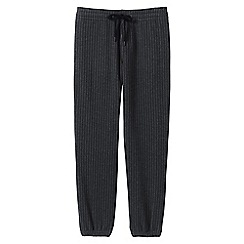 Lands' End - Grey pinstripe jersey joggers