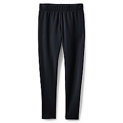 Lands' End - Girls' black cosy ankle length leggings