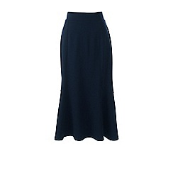 Lands' End - Blue ponte jersey midi skirt