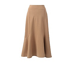Lands' End - Beige ponte jersey midi skirt