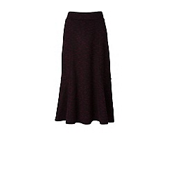 Lands' End - Brown ponte jersey tweed midi skirt