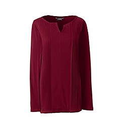 Lands' End - Red pintuck tunic