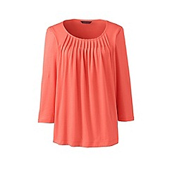 Lands' End - Orange pleated front top