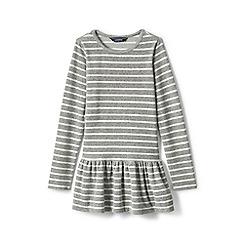 Lands' End - Girls' grey skirted velour legging top