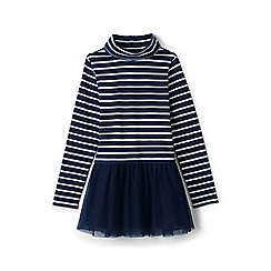 Lands' End - Girls' blue skirted roll neck legging top