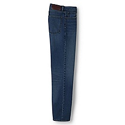 Lands' End - Blue pre-hemmed straight fit jeans