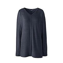 Lands' End - Dark grey starfish v-neck tunic top
