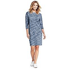Lands' End - Blue three-quarter sleeve dolman t-shirt dress