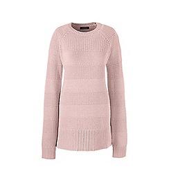 Lands' End - Pink petite lofty cotton tunic jumper
