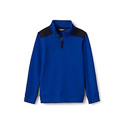 Lands' End - Boys' blue half-zip sweatshirt