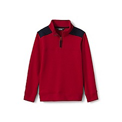 Lands' End - Boys' red half-zip sweatshirt