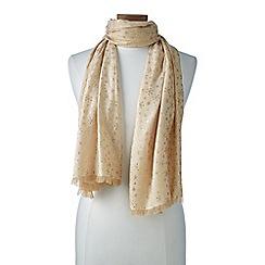 Lands' End - Gold foil snowflake scarf